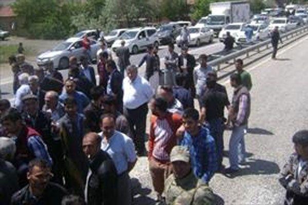 Malatya'da kaza sonrası protesto