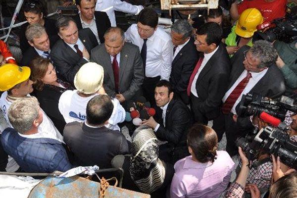 Komisyon üyeleri Soma'da incelemede bulundu