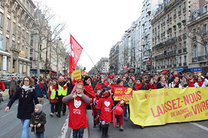 Fransa'da kürtaj protestosu