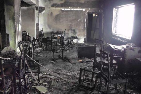 Muş'ta kayak merkezi tesisini yaktılar