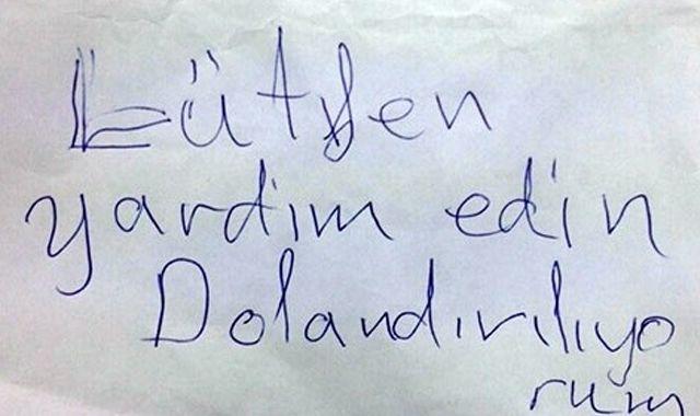 Yaşlı kadın not yazarak dolandırıcıyı yakalattı