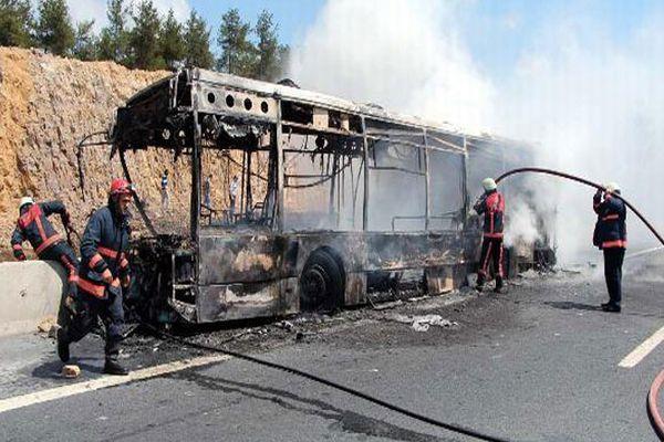 Otobüste yananların kimlikleri belli oldu