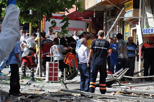 Denizli'de patlama, 1 ölü, 36 yaralı