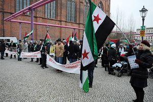 Yermuk'taki mülteciler için dayanışma gösterisi