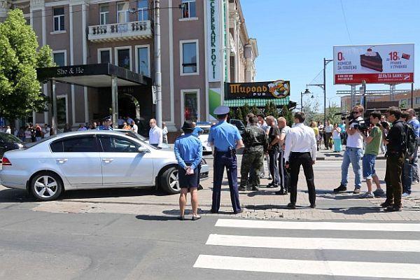 Donetsk'te ayrılıkçılar protesto edildi