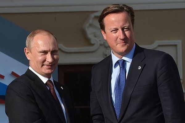 Cameron ve Putin Ukrayna'yı görüştü