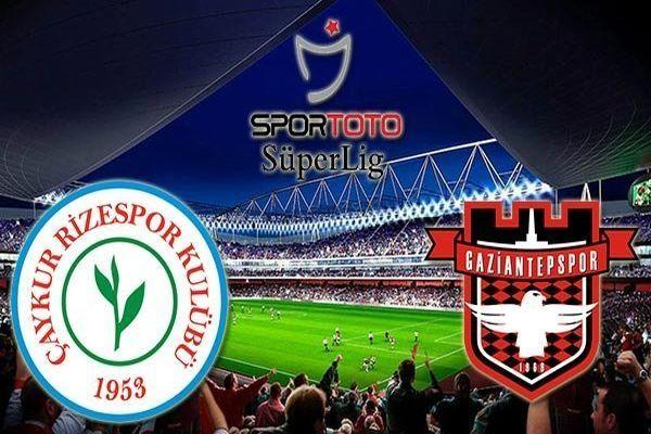 Çaykur Rizespor Gaziantepspor maçın özeti ve golleri