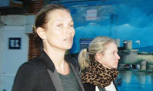 Kate Moss Bodrum sokaklarında görüntülendi