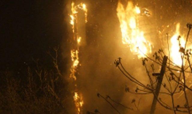 Beşiktaş'taki yangın paniğe sebep oldu