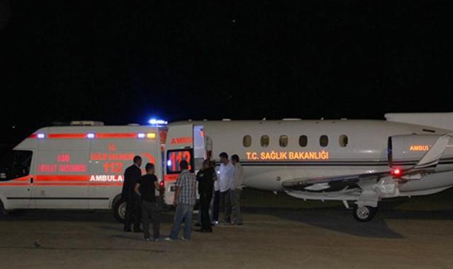 Yaralanan 5 asker Türkiye'ye getirildi