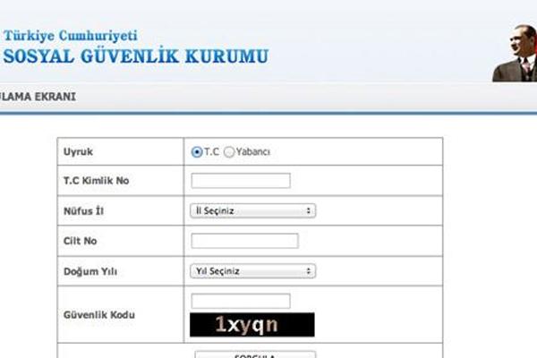 SSK Hizmet Dökümü Şifresiz, TC Kimlik no ile sorgulama SSK hizmet dökümü alma