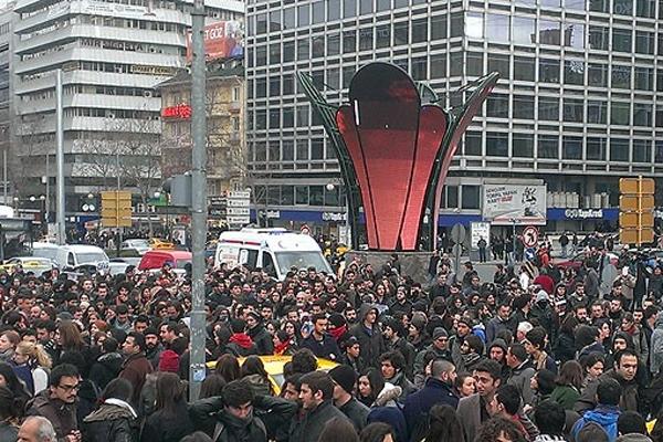 Kızılay'da trafiği kapattılar, polis müdahale etti