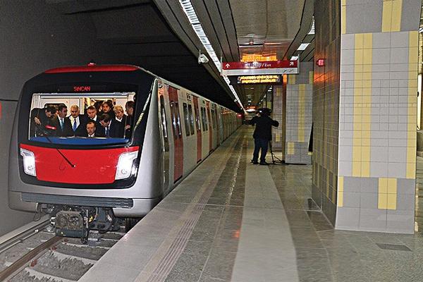 Ankara yarın yeni metro hattına kavuşuyor