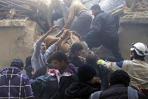 Halep'te ekmek fırınına saldırı, 13 ölü