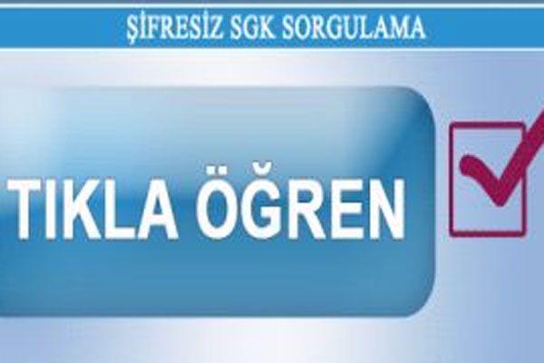 Hizmet Dökümü SSK Sorgulama TC Kimlik NO ile SSK ve SGK şifresiz