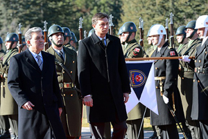 Slovenya Cumhurbaşkanı Pahor Ankara'da