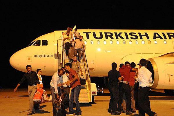 IŞİD'in serbest bıraktığı Türk şoförler Türkiye'de