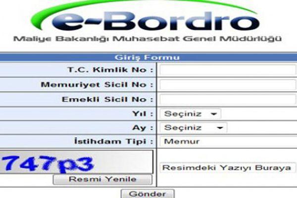 E-Bordro Kasım ayı maaş sorgulama