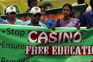 Sri Lanka'da hükümet karşıtı gösteri