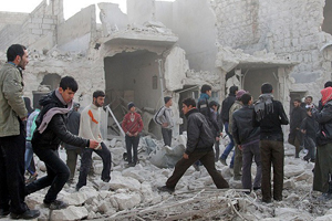 Halep'te bombalı saldırılar