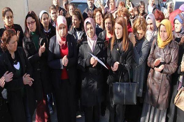 Viranşehir İlçesi'nde töre cinayetlerine protesto