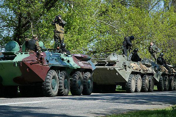 Rusya askeri araçları Ukrayna'ya girdi
