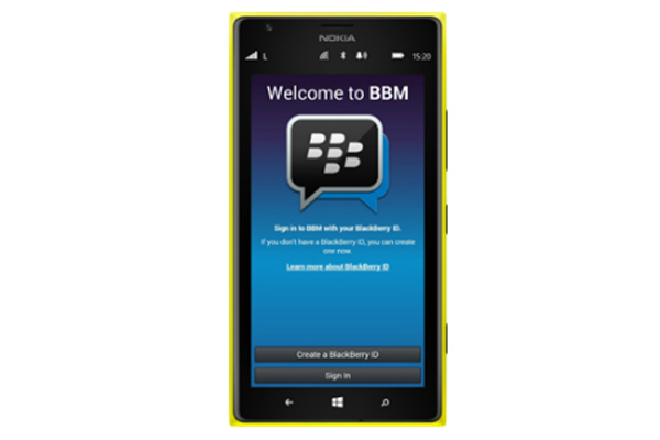 BlackBerry Servisi BBM Windows Phone'a geliyor