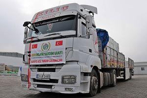 Suriye'ye 35 TIR yardım