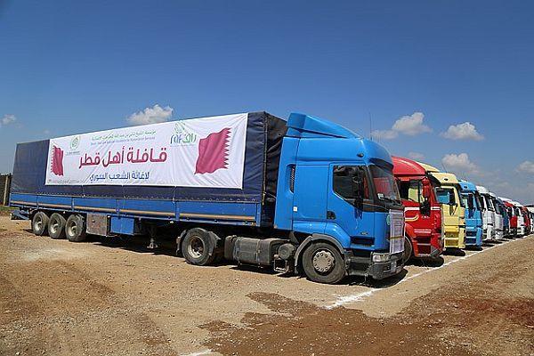 134 TIR'lık yardım Suriye'ye gönderildi