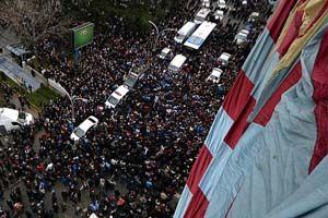 Trabzon taraftarlarından şike protestosu