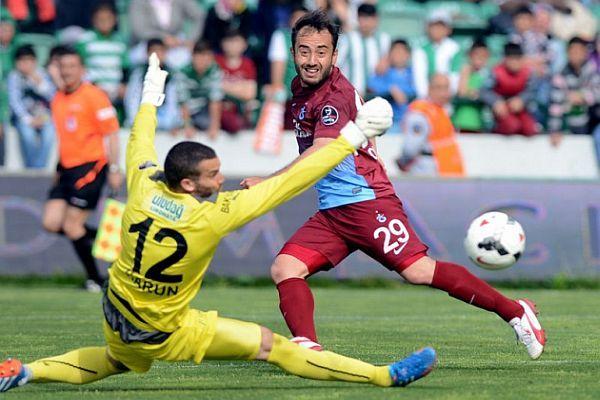 Bursaspor-Trabzonspor maçının geniş özeti ve golleri