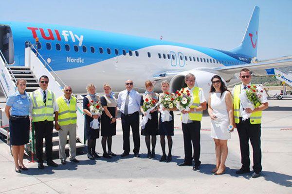 TUIfly Nordic Gazipaşa'dan karşılıklı seferlere başladı