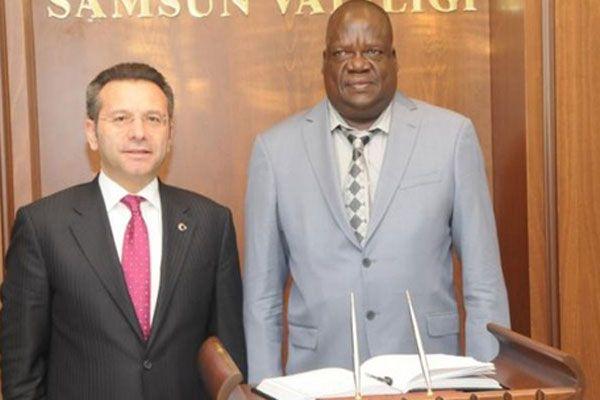Uganda Büyükelçisi'nden Aksoy'a ziyaret
