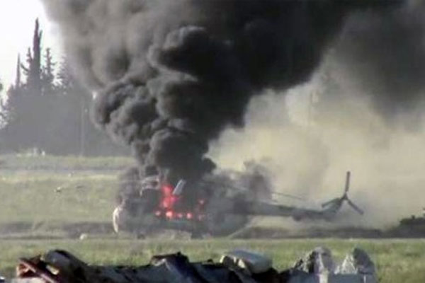 Ukrayna'ya ait bir helikopter daha düşürüldü