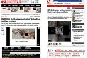 Vahşet görüntüleri Balkan medyasında
