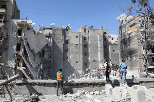 Esad Halep'i varil bombasıyla vurdu