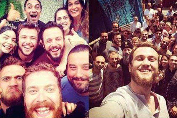 Muhteşem Yüzyıl oyuncularından saraya veda Selfie'si