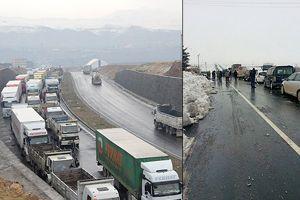 Cizre-Nusaybin yolunda araçlar mahsur kaldı