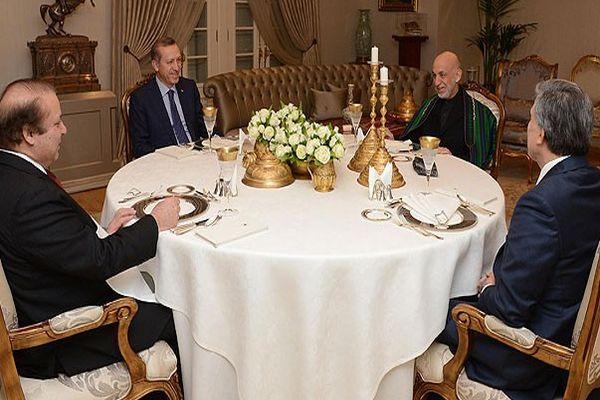 Abdullah Gül'den Karzai ve Şerif onuruna yemek