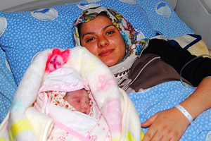 Yeni yılın ilk bebeği 'Elif Zehra' Ağrı'da doğdu