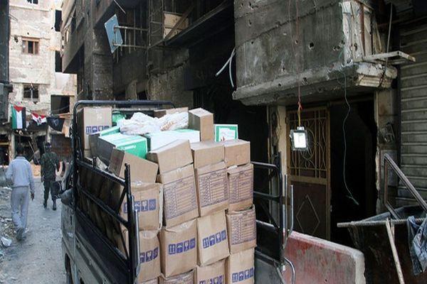 Yermuk Mülteci Kampı'na 800 yardım paketi