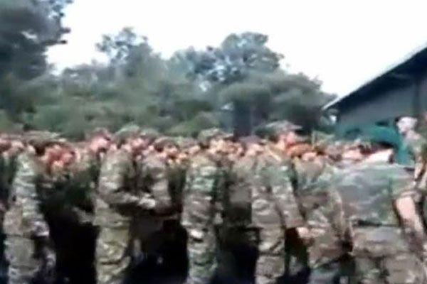 Yunan askerlerinin kin ve nefret dolu Türkiye marşı