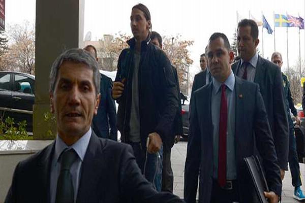 Ünlü futbolcu Zlatan İbrahimoviç Ankara'ya geldi