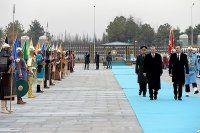 Aliyev Cumhurbaşkanlığı Sarayı'nda 'Diriliş' Marşı ile karşılandı