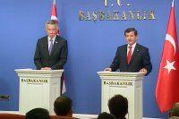 Davutoğlu ve Lee Hsien Loong'tan ortak basın toplantısı