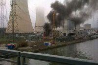 Belçika'da korkutan nükleer santral yangını
