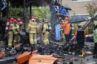 Feribot faciasının kayıplarını arayan helikopter düştü, 5 ölü