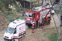 İtfaiye hem genci hem de ambulansı kurtardı
