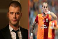 Kıvanç Tatlıtuğ ile Sneijder, komşu oldu