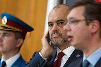 Sırbistan ve Arnavutluk Başbakanı'nın basın toplantısında kriz